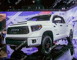 100 Pro Stock Truck Toyota Tundra TRD Pickup Truck Displayed Editorial