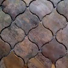Copper Tiles For Backsplash by Arabesque Lantern Beacon Copper Tile In Bronze Brushed For Kitchen