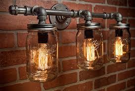 jar light fixture industrial light light rustic light