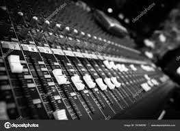 Music Studio Recording Mixer Sound Mixing Board Stock Photo