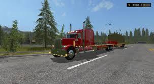 100 Custom Flatbed Trucks PETERBILT 388 FLATBED CUSTOM V1 MOD Farming Simulator 2017