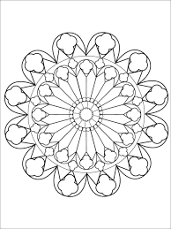 Easy Large Space Mandala Coloring Page For Adults