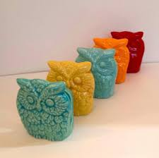 Kitchen Colorful Owl Decor Ideas