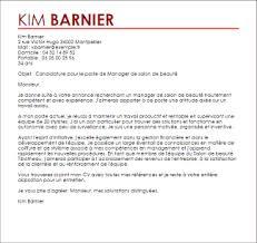 exemple lettre de motivation manager de salon de beauté livecareer