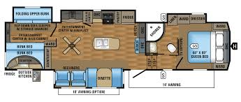 Fifth Wheel Bunkhouse Floor Plans by 2017 Eagle Fifth Wheel Floorplans U0026 Prices Jayco Inc