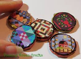 Recycle Newspaper Crafts New Round Pendants From Newspapers Recycled Paper