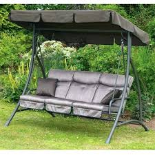 Swing Bench With Canopy Small Size Patio Furniture Swing Bed