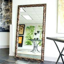 wall mirrors oak framed bevelled wall mirror m76 oak framed wall