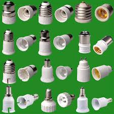 55 types of light socket adaptor base converter extender l