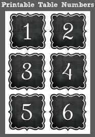 Chalkboard Table Number Printables FREE