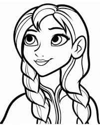 Frozen Anna Fireworks Printable Coloring Page