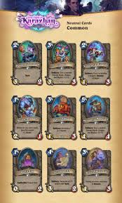 Basic Deck Hearthstone Priest by Visual Guide Of All The Cards From One Night In Karazhan Mana