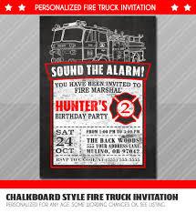 Firefighter Birthday Invitations - Themormonbox