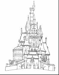Fabulous Disney Castle Coloring Pages With And Pdf