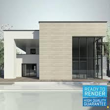 100 Modern House 3 Revit D D Model