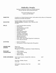 Dental Assisting Resume New Assistant Samples Awesome Of