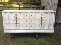 Drexel Heritage Dresser Handles by 70 U0027s Dresser Updated Heirloom White Paint By Behr And Gold