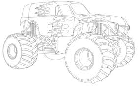 Drawing Monster Truck Coloring Pages With Kids For Trucks On Grave ...