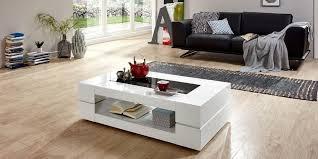 couchtisch sera hochglanz weiß 120x70 cm rechteckig tisch