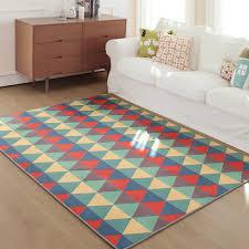 tapis de chambre géométrique bohême style doux tapis tapis chambre non glissement