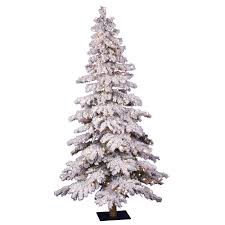 Flocked Christmas Trees Decorated by Amazon Com Vickerman 6 U0027 Flocked Spruce Artificial Christmas Tree