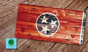 Halloween Central Cookeville Tn by Tn License Plate Tn Plate Frame Tennessee Rustic Tri Star