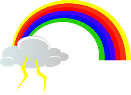 Storm Clipart Image Clip Art Illustration Of A Colorful Rainbow And Cloud With
