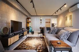 100 Flat Interior Design Images 4 Space Cozy Industrial HDB 4Room DecoMan