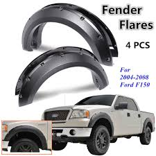 Black Pocket Rivet Style Fender Flares Cover For 2004-2008 Ford F150 ... 092014 F150 Barricade Premium Molded Fender Flares Excluding 0914 Ford Platinum Crew Cab 55 Bed With Flare Groove Generic Body Side Molding Trim 0408 Supercab Short Eag 1517 4pcs Textured Satin Black Oe Bushwacker Overview Aucustscom Youtube 2009 2015 Pocket Rivet For 2014 Accsories 42008 Riveted By Rough Country 72018 F250 Style Color Flares Need Truck Enthusiasts Forums Extafender 19932011 Ranger Front And 082010 F350 Frontrear Kit Cover For