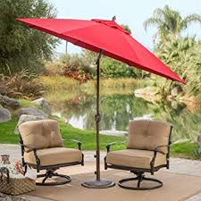 Sunbrella Patio Umbrellas Amazon by Amazon Com Coral Coast 9 Ft Sunbrella Deluxe Tilt Aluminum