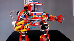 100 Fire Truck Movie 70813 Lego Rescue Reinforcements Mech Review YouTube