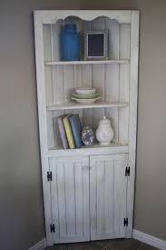 Small White Corner Kitchen Hutch Hutches