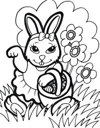 Coloring Pages Free Online Printable Bunny Easter Colouring Sheets