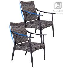 Details About Patio Garden Wicker Dining Chairs Indoor Outdoor Rattan Arm  Chairs, Set Of 2 9363 China 2017 New Style Black Color Outdoor Rattan Ding Outdoor Ding Chair Wicked Hbsch Rattan Chair W Armrest Cushion With Cover For Bohobistro Ica White Huma Armchair Expormim White Open Weave Teak Suma With Arms Natural Hot Item Rio Modern Comfortable Patio Hand Woven Sidney Bistro Synthetic Fniture Set Of Eight Chairs By Brge Mogsen At 1stdibs Wicker Derektime Design Great Ideas Warm Rest Nature