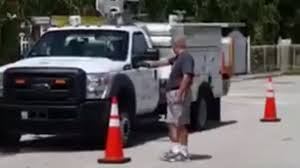 Video Captures Florida Man Shooting AT&T Trucks Parked Outside His ... Petite Woman Driving Giant Truck Video Ice Cream For Children Kids 2019 New Western Star 4700sf Dump Walk Around Sale Amazoncom Monster Destruction Appstore Android Garbage Videos Cartoons For Best Image Kusaboshicom Video Truck Examined After Worker Injured Dtown Ambulance Coub Gifs With Sound Mobile Gaming Theater Parties Akron Canton Cleveland Oh Saudi Man Arrested Jumping In Front Of Fire Engine Station Compilation
