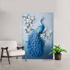 5D DIY Diamond Painting Peacock Birds Flower Full Round Embroidery Mosaic Sale Home Wall