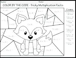 Color By Number For Kids Printable Numbers Preschoolers Best Kindergarten