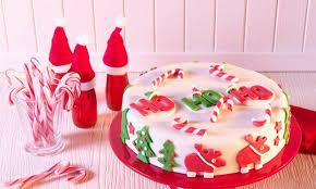 weihnachtliche mandeltorte