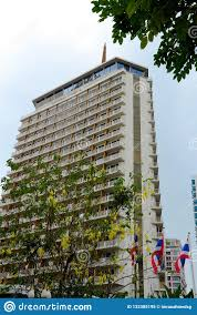 100 The Dusit Thani Iconic Hotel Building Entrance Central Bangkok Thailand