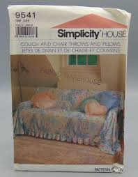 Simplicity House 9541 Sewing Pattern Couch Chair Covers Throws Pillows One  Size UNCUT Schon Teal Recliner Cover Armch For Target Slip Kohls Chairs Santa Hat Chair Covers A Serious Bahhumbug Repellent Upcycled Singer Sewing Machine Table Cast Iron Base Solid Recovering The Ikea Tullsta Sew Woodsy Us 849 15 Off20set Gold Metallic Cord Braided Looped Fastener Closure Knot Buttons Hotel Traditional Cheongsam Nk354in Ikea Bent Wood Chair Covers Black Polyester Banquet Tablecloths Factory How To Make Ding Room Kitchen Interiors Ding Drop Cloth Slipcovers Alluring Armchair And Ottoman Slipcover Fit Pattern Gifts Warfieldfamily Simplicity 5952 Easy Pads Donna Lang Designs 2002 Out Of Print