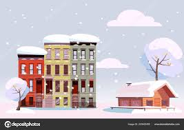 100 Three Story Houses Winter Urban And Countryside Landscape Citiscape Versus Suburb