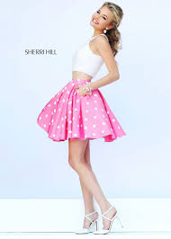sherri hill prom dress 32244 ivory pink size 00 dress