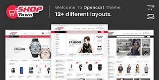 Opencart Template Builder Shop Town Multipurpose Theme Website Templates
