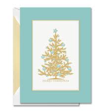 Seashell Christmas Tree by Engraved Seashell Tree Boxed Holiday Greeting Cards Crane Com