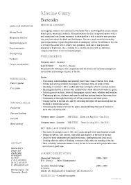 Waitress Resume Samples Restaurant Server Resume Example Waiters And