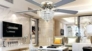 Ceiling Fans Over Dining Room Table Crystal Chandelier Fan Light 7