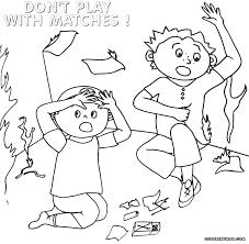 Fire Safety Coloring Pages Inside
