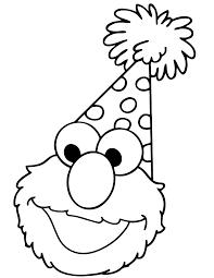 Happy Birthday Elmo Coloring Page