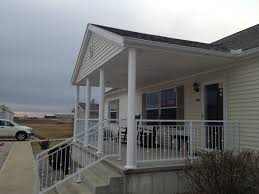 Mobile Home With Front Porch And Iron Railing Of Beautiful Porches ... Porch Fascating Modular Home Front Porch Photos Mobile Home Mobile Homes With Brick Skirting Google Search Ideas Designs For Houses Screen Plans Kitchen Deck Porch Designs For Mobile Homes Design 50 Ranch With Porches Design Awesome Picture Of Small Manufactured Fabulous Homes Front Single Wide Wooden Amazing Door Uk 225 Best Images On Pinterest 25 Best About On