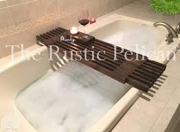 Teak Bathtub Tray Caddy by Designs Charming Bathtub Shelf Diy 5 Rustic Bathtub Caddy Bath